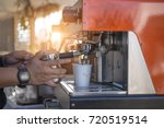 employees are making coffee....   Shutterstock . vector #720519514