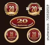anniversary badge   Shutterstock .eps vector #720520519