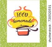 freehand drawn template logo... | Shutterstock .eps vector #720520531