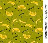 vitamin tasty bananas pattern.... | Shutterstock .eps vector #720522799