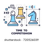 business competition concept on ... | Shutterstock .eps vector #720526039