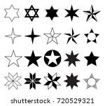 vector star icons set | Shutterstock .eps vector #720529321
