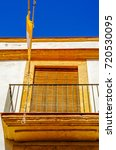 stylish balcony with a metal... | Shutterstock . vector #720530095