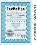 light blue vintage invitation...   Shutterstock .eps vector #720530755
