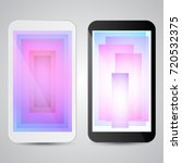 black and white modern gadgets...   Shutterstock .eps vector #720532375