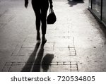 blurry young woman with a... | Shutterstock . vector #720534805