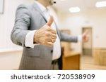 a successful business man... | Shutterstock . vector #720538909