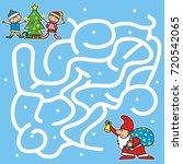christmas game for kids.... | Shutterstock .eps vector #720542065