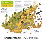 isometric 3d asian flora and... | Shutterstock .eps vector #720546451