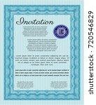 light blue invitation. beauty...   Shutterstock .eps vector #720546829