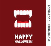 happy halloween canine tooth... | Shutterstock .eps vector #720548305
