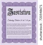 violet vintage invitation. good ...   Shutterstock .eps vector #720548671