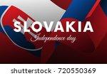 banner or poster of slovakia...   Shutterstock .eps vector #720550369