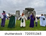 stonehenge  uk   september 23 ... | Shutterstock . vector #720551365