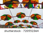 Colourful Umbrellas Are Being...