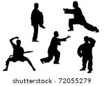 vector silhouette of kung fu...   Shutterstock . vector #72055279