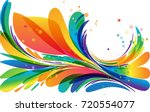 multicolored floral circle... | Shutterstock .eps vector #720554077