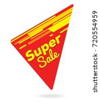 red and yellow supper sale... | Shutterstock .eps vector #720554959