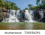 beautiful sala water falls near ... | Shutterstock . vector #720556291