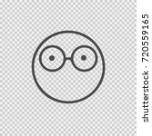 smiley face with glasses vector ... | Shutterstock .eps vector #720559165