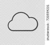 cloud vector icon eps 10.... | Shutterstock .eps vector #720559231