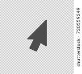 mouse arrow vector icon eps 10. ... | Shutterstock .eps vector #720559249