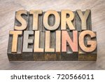 storytelling word abstract in... | Shutterstock . vector #720566011