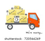 transportation and home removal.... | Shutterstock .eps vector #720566269