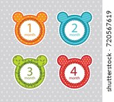 stickers with the months of the ... | Shutterstock .eps vector #720567619