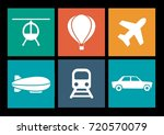 transportation icon collection | Shutterstock .eps vector #720570079