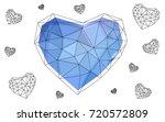 light pink  blue vector...   Shutterstock .eps vector #720572809