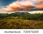 amazing sunrise in the wasatch... | Shutterstock . vector #720573205