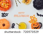 halloween holiday banner design ... | Shutterstock . vector #720573529