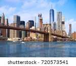 new york city lower manhattan... | Shutterstock . vector #720573541