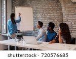 freelance business people with... | Shutterstock . vector #720576685