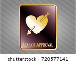 gold emblem or badge with...   Shutterstock .eps vector #720577141