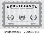 grey certificate template. with ... | Shutterstock .eps vector #720580411