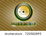gold badge with weightlifting...   Shutterstock .eps vector #720582895