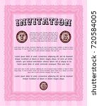 pink invitation template. with...   Shutterstock .eps vector #720584005