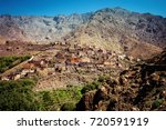 imlil atlas mountains morocco | Shutterstock . vector #720591919