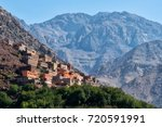 imlil atlas mountains morocco | Shutterstock . vector #720591991