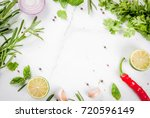 food cooking background  white... | Shutterstock . vector #720596149