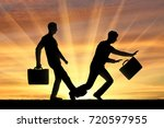 businessman stumbles on the leg ... | Shutterstock . vector #720597955