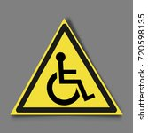 disabled icon in trendy flat...