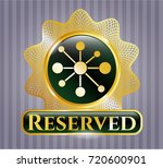gold emblem with business... | Shutterstock .eps vector #720600901