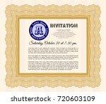 orange vintage invitation....   Shutterstock .eps vector #720603109