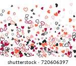 red grey valentine's day...   Shutterstock .eps vector #720606397