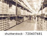 blurred wholesale store with... | Shutterstock . vector #720607681