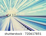 blurred backround of moving... | Shutterstock . vector #720617851