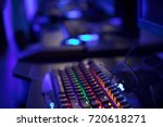 gaming arena background with... | Shutterstock . vector #720618271